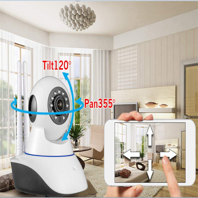 IP Wireless Alarm Camera Rotatable - White