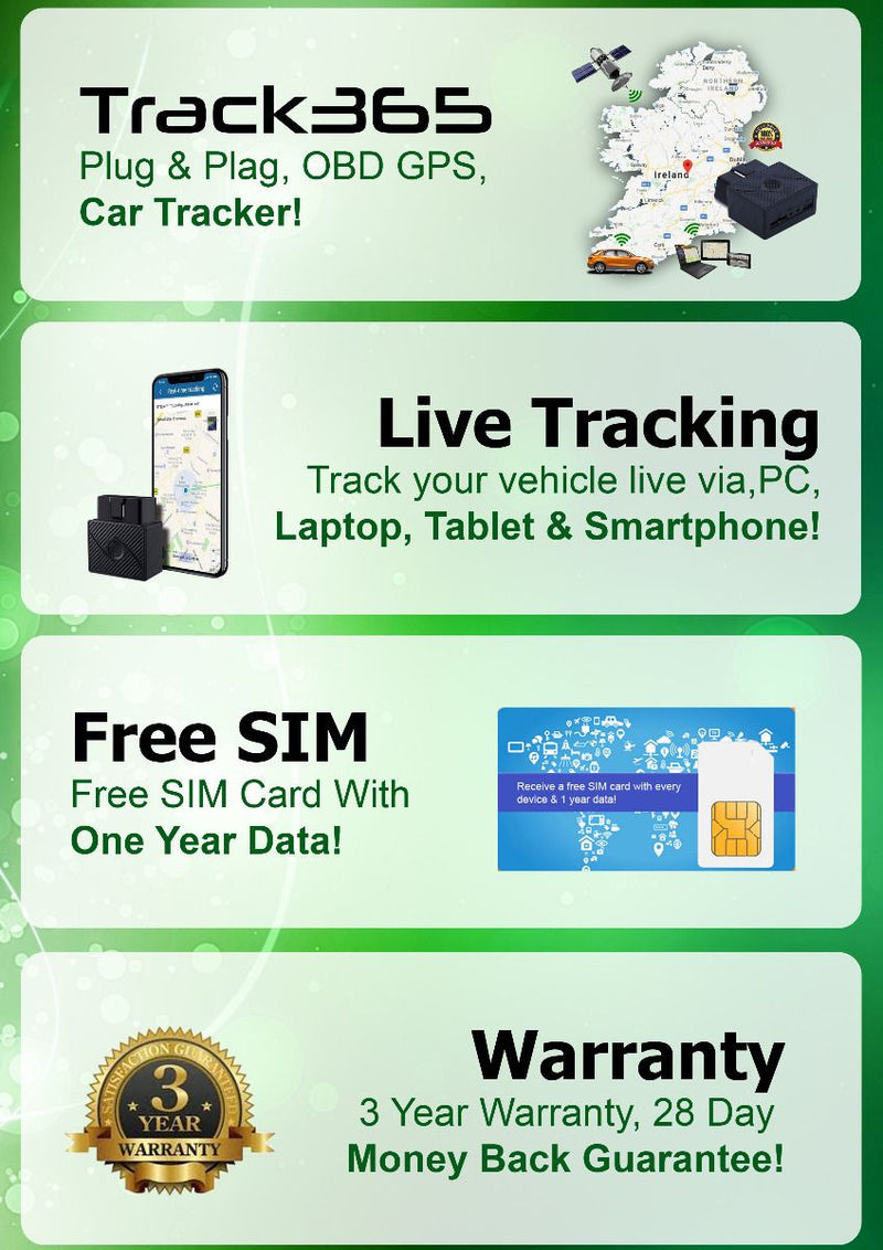 Car Tracker Track 365 Car Tracker with 12 Months Data Included - siopashop.ie