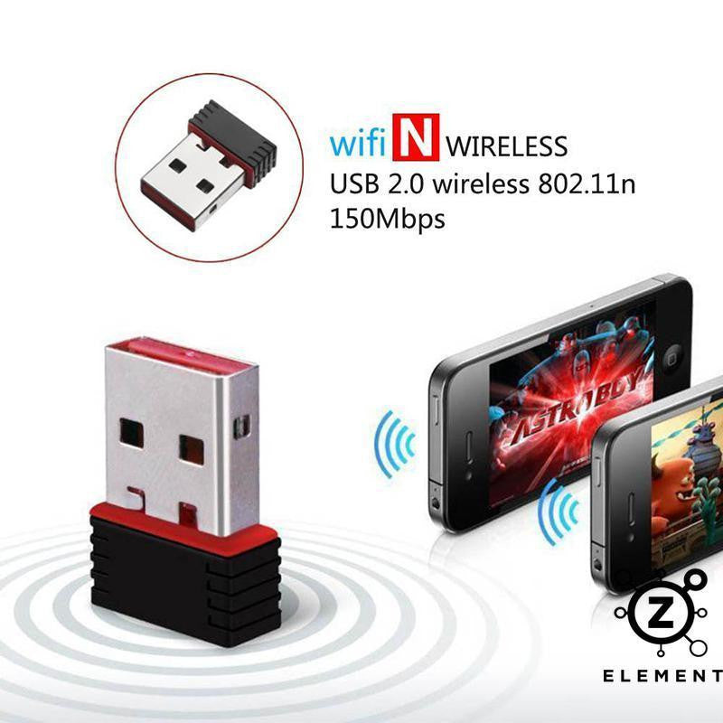 USB Dongle USB WiFi Dongle Mini Wireless Network Adapter 300Mbps 802.11n - siopashop.ie