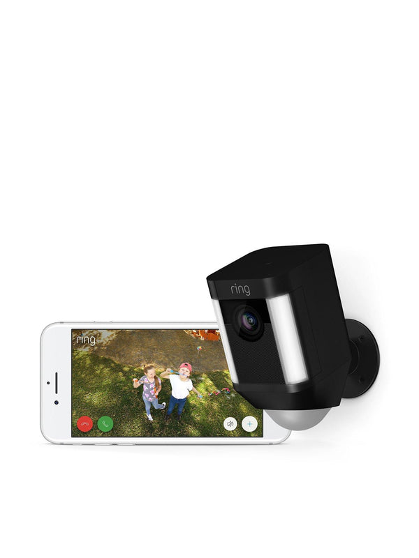 Ring Spotlight Camera with Battery - Black