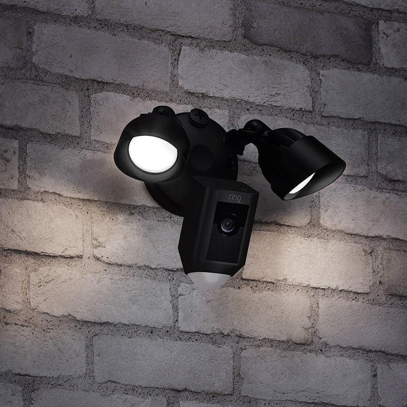 Ring Floodlight Camera with Siren - Black
