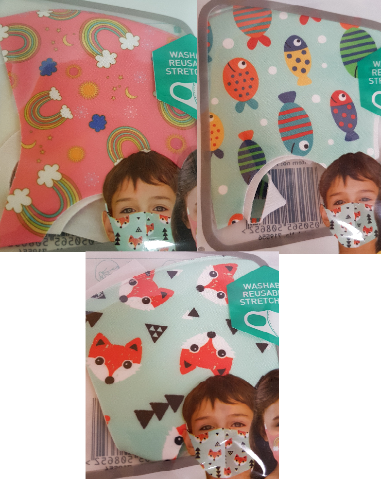 Kids Face Mask Kids Face Mask Bundle Packs - siopashop.ie Girls