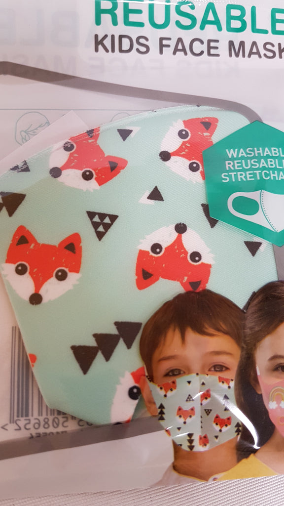 Kids Face Mask Kids Reusable Face Masks - siopashop.ie Fox