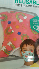 Kids Face Mask Kids Reusable Face Masks - siopashop.ie Rainbows