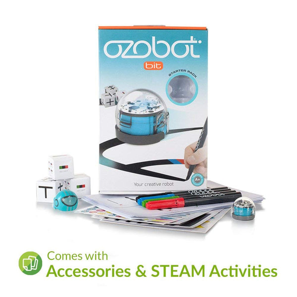 Ozobot 2.0 Bit Starter Pack - Cool Blue