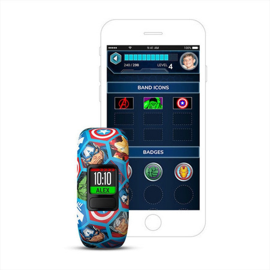 Kids Fitness Watch Garmin vívofit jr 2 Marvel Avengers Smart Fitness Watch - siopashop.ie