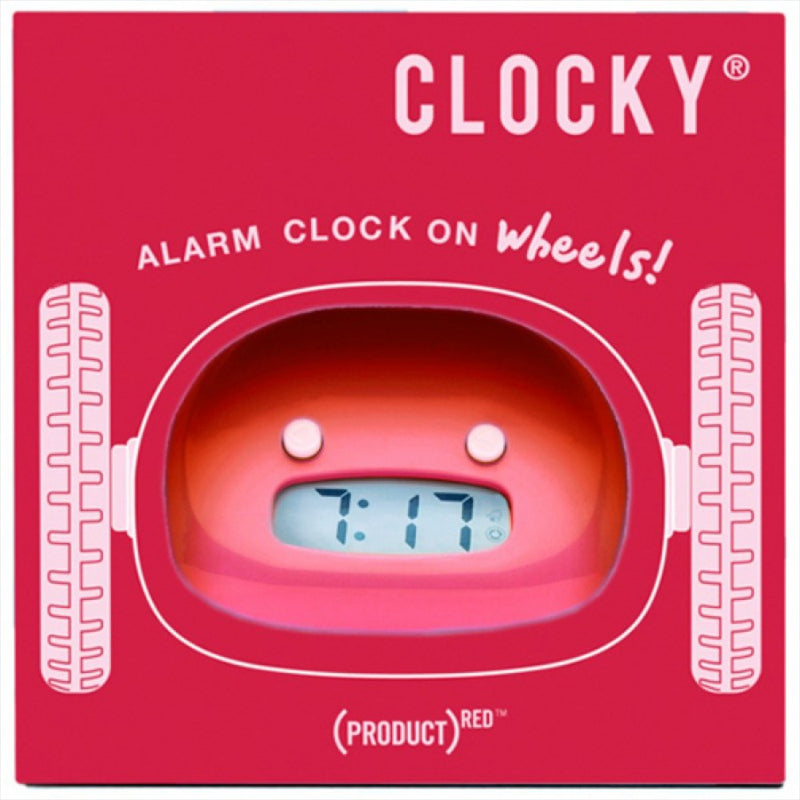 Clocky Robot Alarm Clock - Red