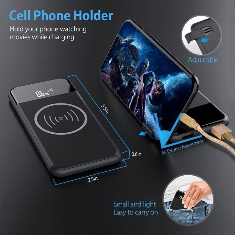 Wireless Charger for all Qi Smart Devices - Black
