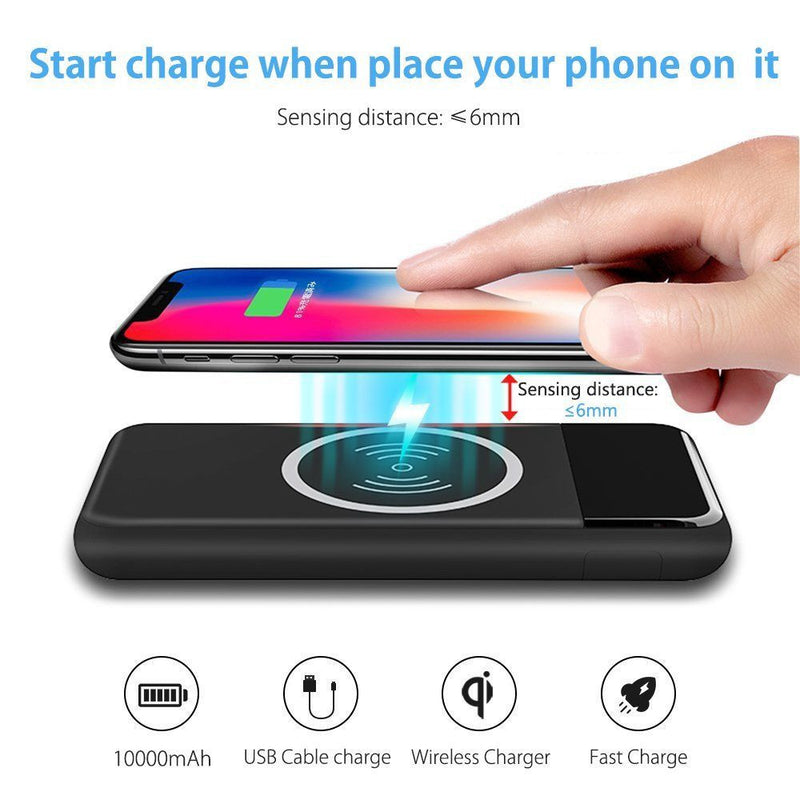 Wireless Charger for all Qi Smart Devices - Red