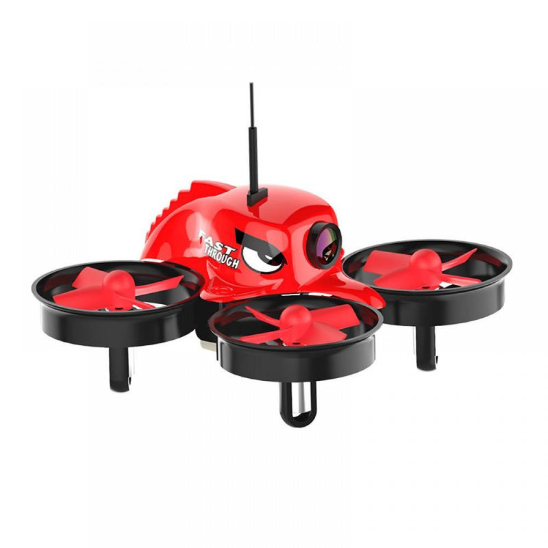 Small Pepper Drone with Blade Guards and Goggles