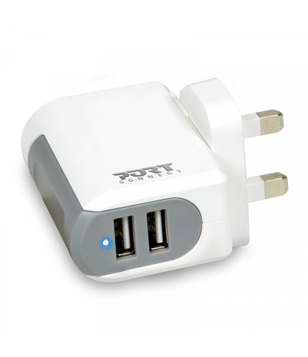 Wall Charger Port Designs Indoor Mobile Device Charger - White - siopashop.ie