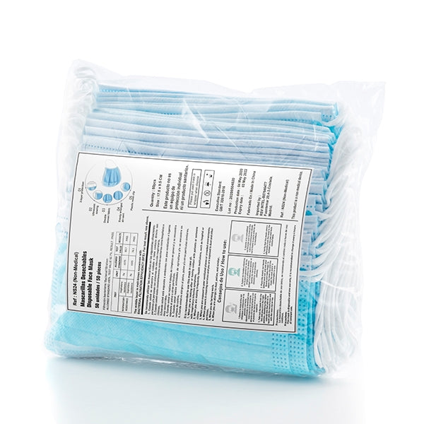 Face Masks Certified 3 Layer Disposable Masks - 50 Pack - siopashop.ie