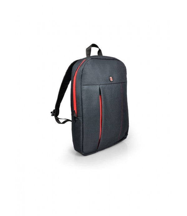 "Port Designs 15.6"" Portland Backpack - Black/Red"