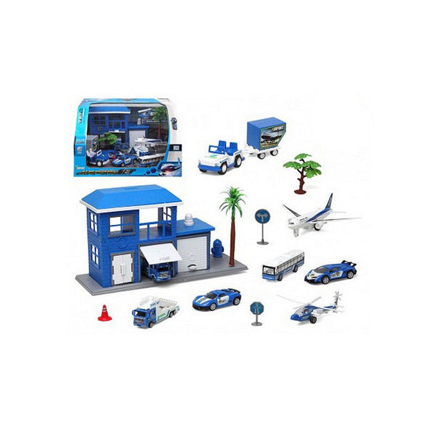 13 Piece Vehicle Playset - Blue