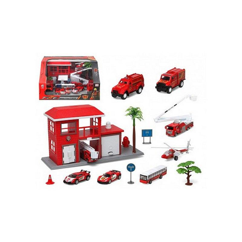 Vehicle Toys 13 Piece Vehicle Playsets - siopashop.ie Red