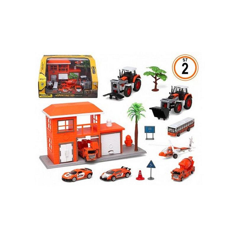 Vehicle Toys 13 Piece Vehicle Playsets - siopashop.ie Orange