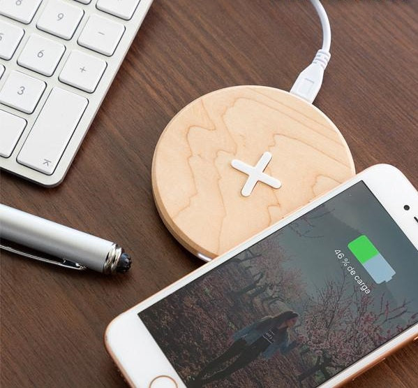 Wireless Charger Wireless Wooden Fast Charger - Maple - siopashop.ie