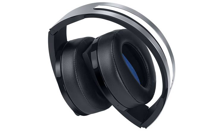 PS4 Headphones PS4 Sony Wireless Headset - Platinum - siopashop.ie