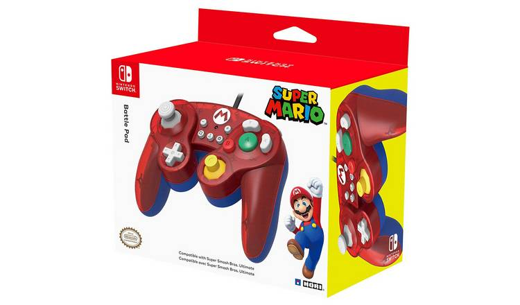 Wired Controller for Nintendo Switch - Super Smash Bros - Mario