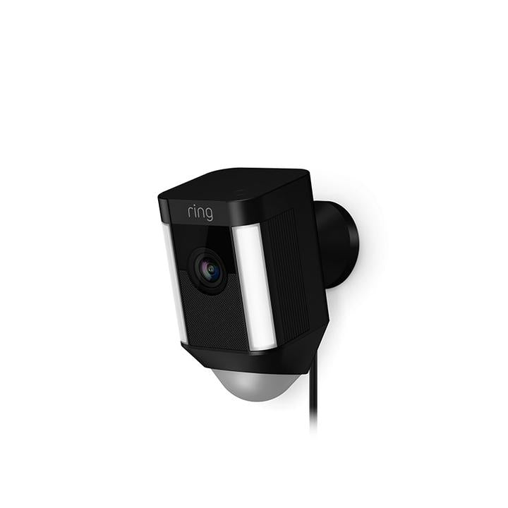 Ring Spotlight Cam Wired Ring Spotlight Camera Wired - Black - siopashop.ie