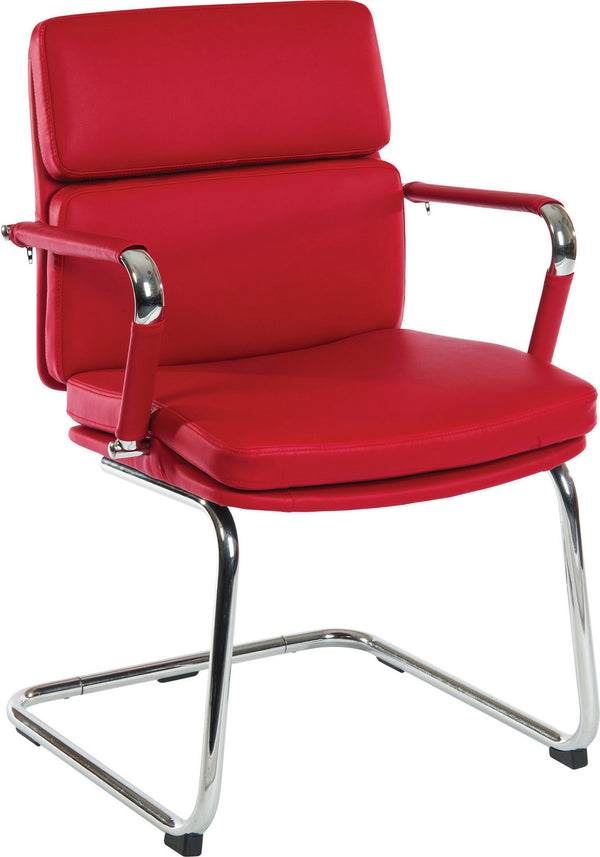 Deco Visitor Office Chair - Red