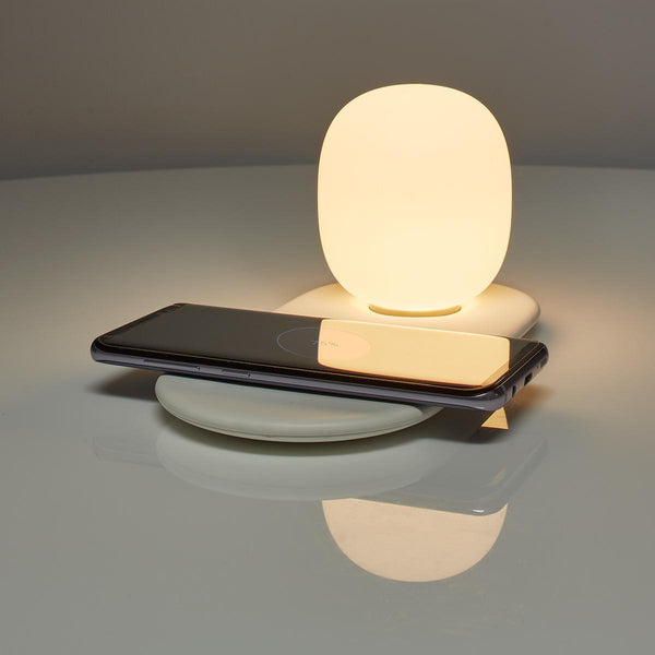 LED Night Light with Touch Control with Wireless Qi Charger for Smartphone
