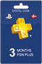 3 Months Playstation Plus Live Code