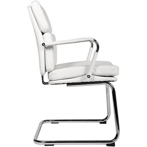 Visitor Chair Deco Visitor Office Chair - White - siopashop.ie