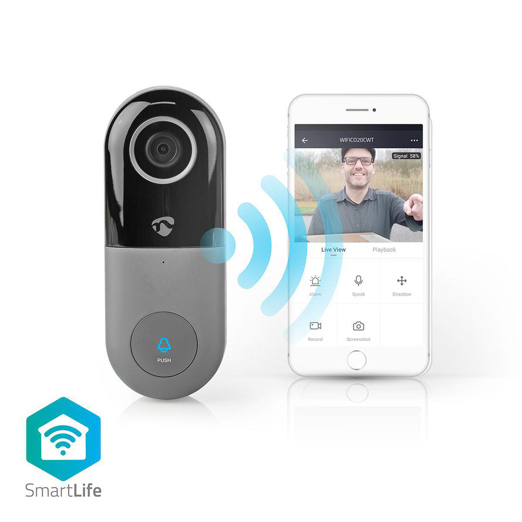 Nedis Video Doorbell Wi-Fi Smart Video Doorbell with App Control - siopashop.ie