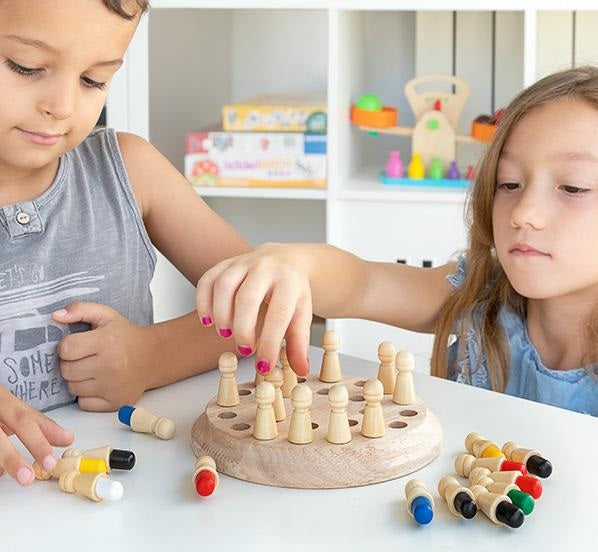 Wooden Memory Game Wooden Memory Game 26 Pieces - siopashop.ie
