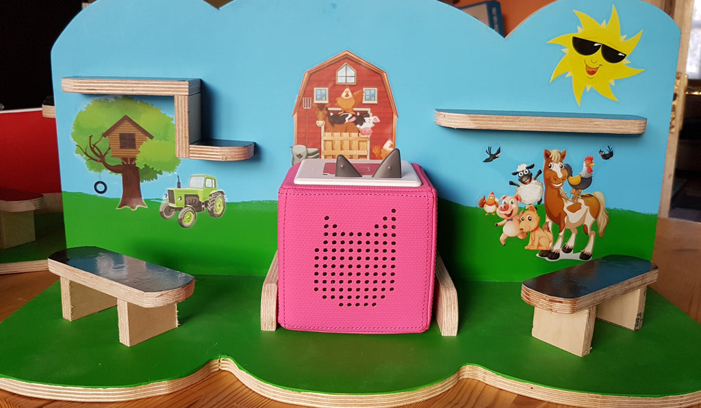 Tonie Shelves Handcrafted Siopashop Toy Shelves (Tonie Compatible) - siopashop.ie Farm