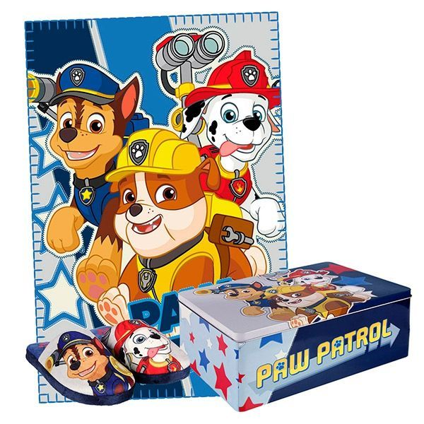 Paw Patrol Tin with Blanket and Slippers