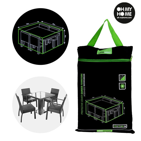 Garden Cover Waterproof Cover for Garden Table and Chairs - siopashop.ie