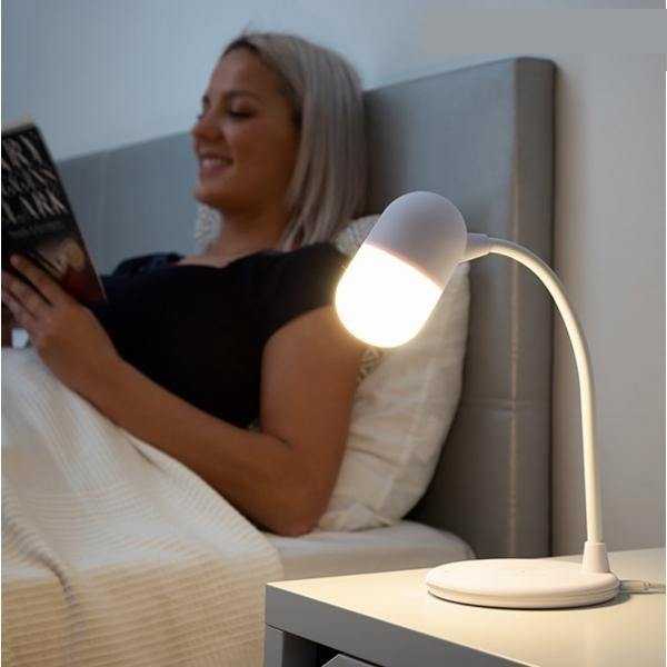 Charger Lamp with Speaker LED Lamp with Speaker and Wireless Charger - siopashop.ie