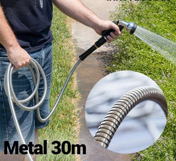 Metal Hose Unbreakable Metal Hose - 30m - siopashop.ie