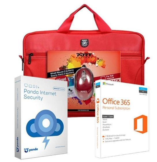 Microsoft Office Accessory Pack Bundle - Red