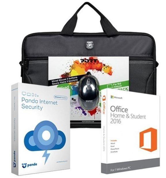 Microsoft Office Home & Student Accessory Bundle - Black