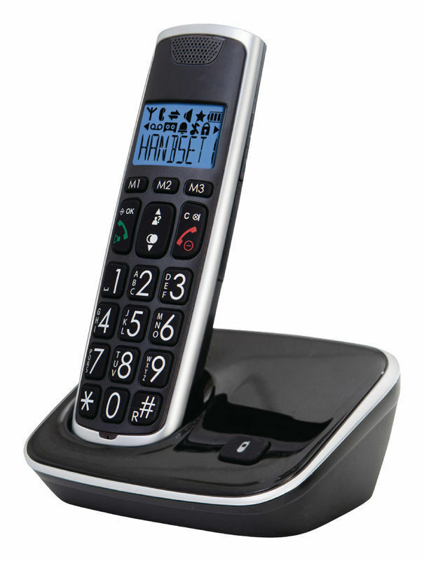 Home Phone Big Button Phone - Black/Silver - siopashop.ie