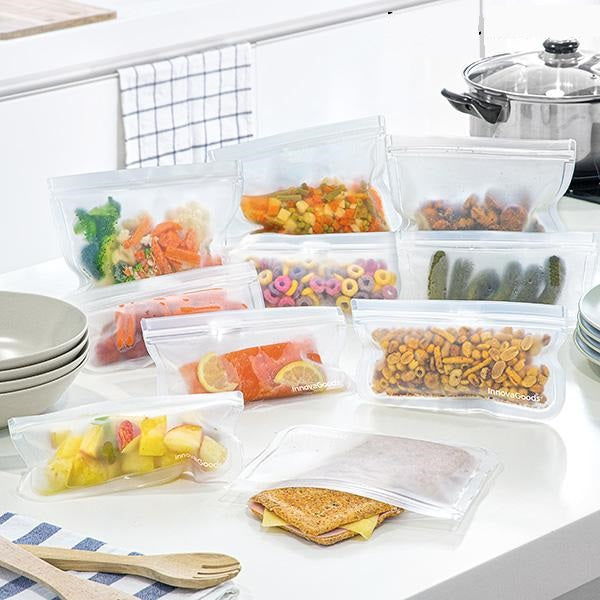 Reuseable Food Bags Kitchen Foodies Reusable Storage Bag Set x10 - siopashop.ie