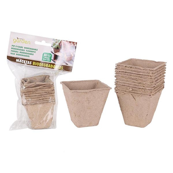 Bio Plant Pots 12 Pack Biodegradable Plant Pots - Buy 2 get 1 Free - siopashop.ie