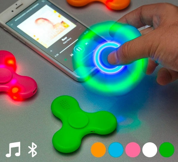 Fidget Spinner with Speaker Fidget Spinner with LED Bluetooth Speaker - siopashop.ie
