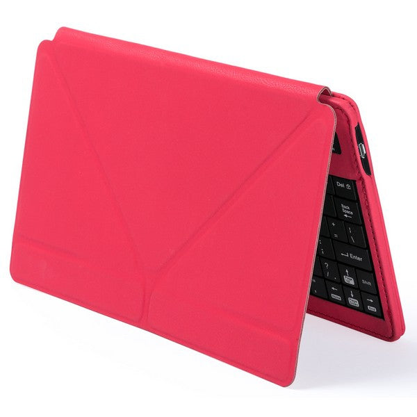 Bluetooth Keyboard Bluetooth Keyboard with Tablet Holder - siopashop.ie Red
