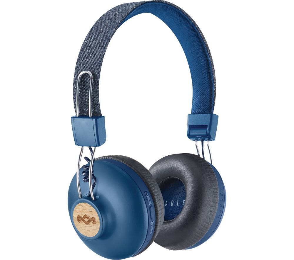 Marley Headphones The House Of Marley Positive Vibration 2 Wireless Headphones - siopashop.ie Denim