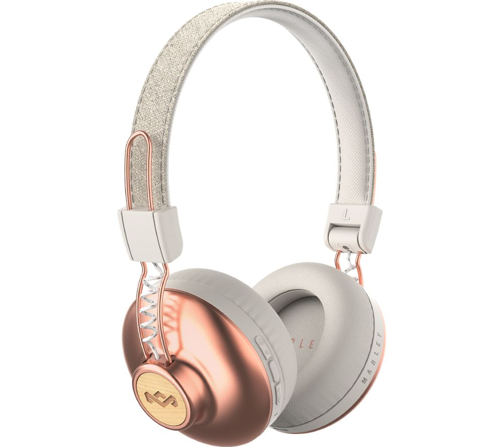 Marley Headphones The House Of Marley Positive Vibration 2 Wireless Headphones - siopashop.ie Copper/White
