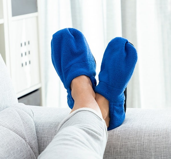 Heated Slippers Microwaveable Heated Slippers - siopashop.ie Blue