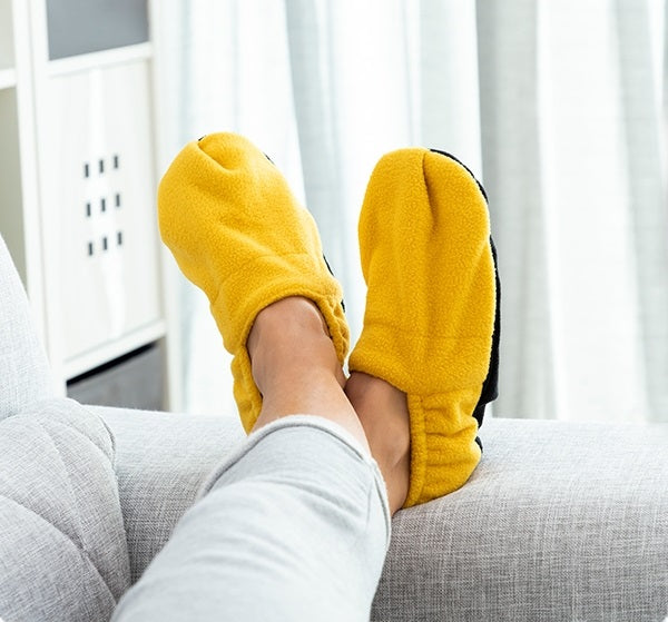 Heated Slippers Microwaveable Heated Slippers - siopashop.ie Mustard