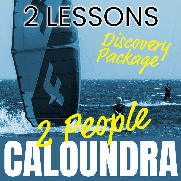 2 People, 2x Lessons - Discovery Kitesurfing Package at Caloundra