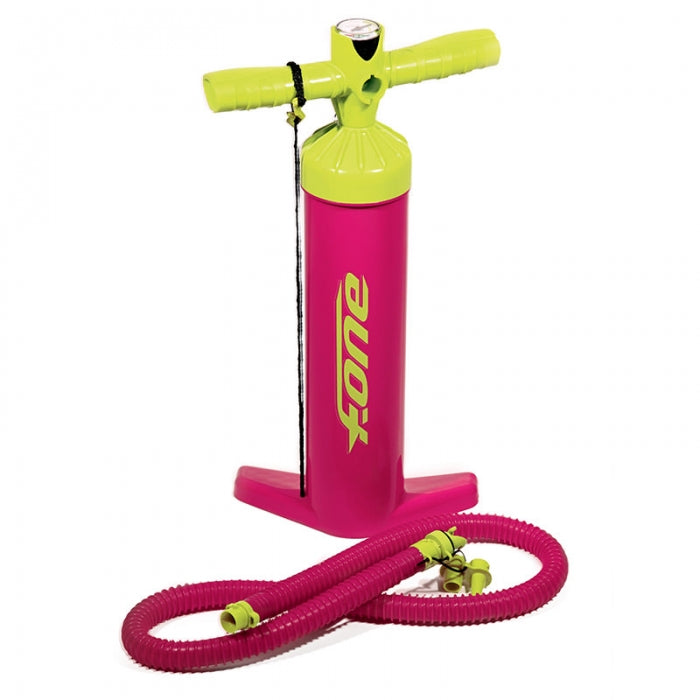 F-ONE Kiteboarding Kitesurfing Kite Pump LIME/RASPBERRY