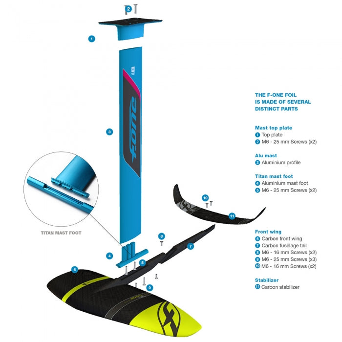 F-one Kitefoil MIRAGE PLANE 1000 2019