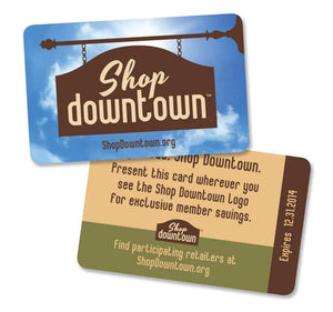 Shop Downtown Discount Card